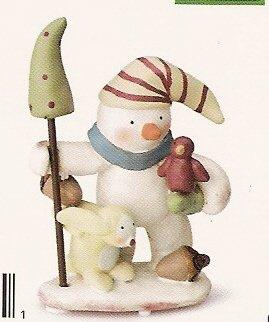 Russ Peace in the Meadow Medium Figurine - Snowman with Bird - FREE USA SHIPPING!!! 32334