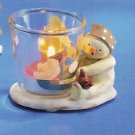 Russ Peace in the Meadow Small Votive - Snowman with Bird - FREE USA SHIPPING!!!
