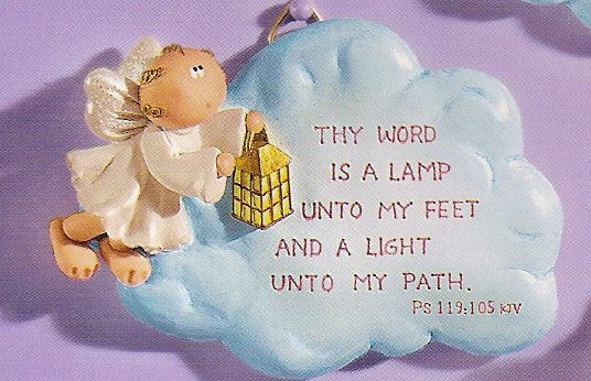 Russ Angel Cheeks Cloud Plaque - Thy Word is a Lamp - FREE USA SHIPPING!!!