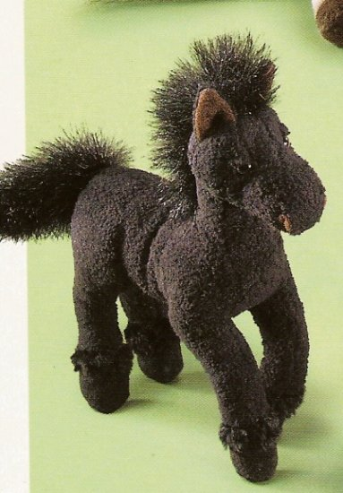 Russ Berrie Barn Mates Plush Horse - Small Black with Black Mane FREE USA SHIPPING!