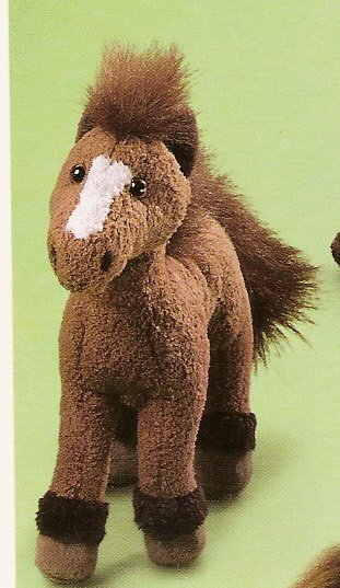 Russ Berrie Barn Mates Plush Horse - Small Tan with Brown Mane FREE USA SHIPPING!