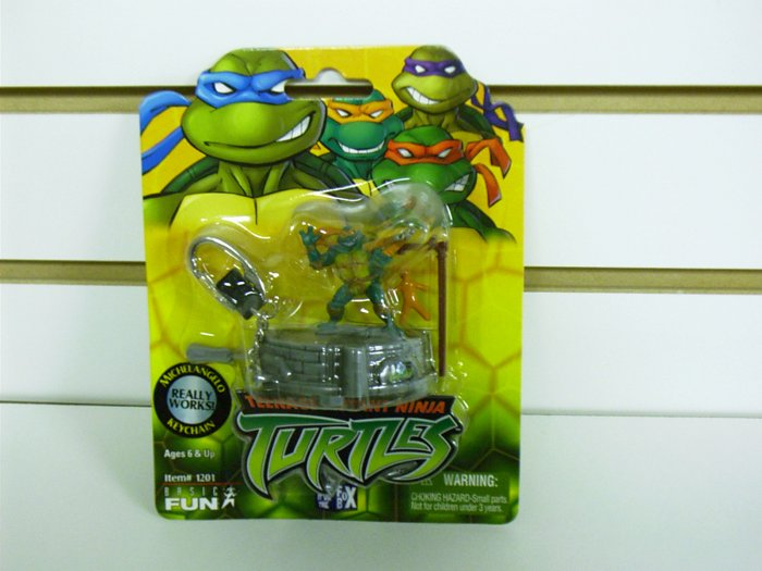Teenage Mutant Ninja Turtles - TMNT - Michelangelo Playset Keychain Basic Fun - FREE USA SHIPPING!