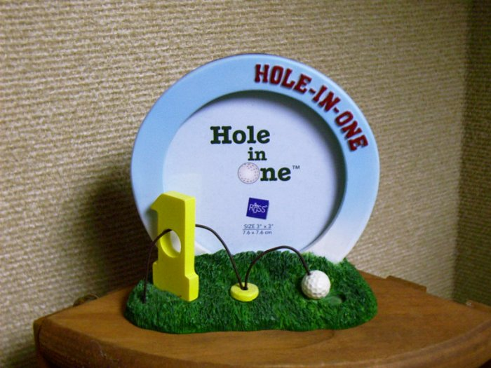 Russ Berrie Hole in One Golf Photo Frame - Hole in One FREE USA SHIPPING!