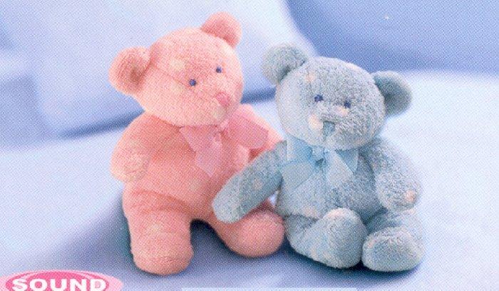 Polka Dotsies Dots Mini Squeaker Bear blue  - FREE USA SHIPPING!