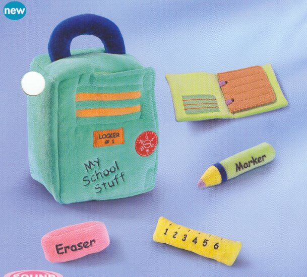 Russ My School Stuff Plush Activity Set FREE USA SHIPPING!