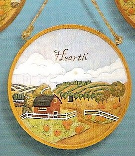 Russ Berrie Autumn Harvest Homecoming Collection - Decorative Plaque - Hearth FREE USA SHIPPING!!!