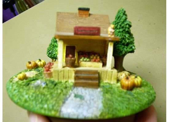 Russ Berrie Autumn Collection Round Candle Jar Topper - General Store - FREE USA SHIPPING!