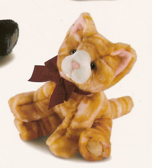 Russ Berrie Winter Scarf Pets - Plush Orange Tabby Cat FREE USA SHIPPING