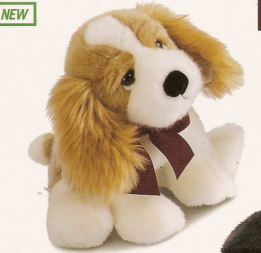 Russ Berrie Winter Scarf Pets - Plush Cocker Spaniel Puppy FREE USA SHIPPING