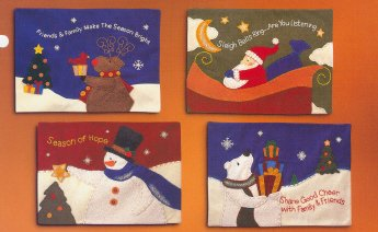 Russ Berrie Christmas - Moments of Wonder Polar Bear Large Wall Hanging FREE USA SHIPPING