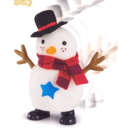 Russ Berrie Christmas - Santa's Toyland Musical Walking Snowman  FREE USA SHIPPING