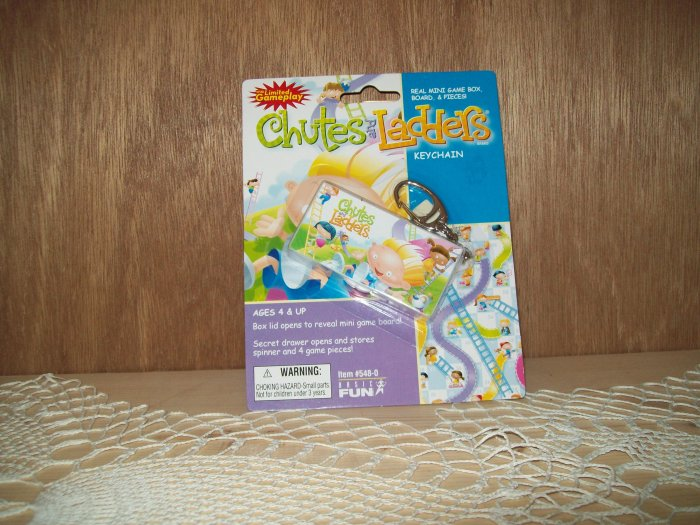 Chutes and Ladders Classic Games Keychain by Basic Fun FREE USA SHIPPING!!