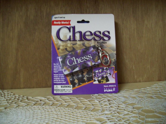Chess Classic Games Keychain by Basic Fun FREE USA SHIPPING!!