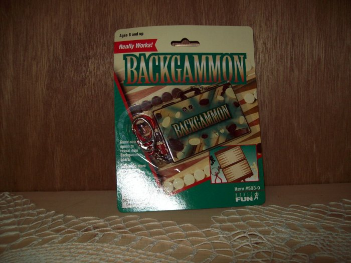 Backgammon Classic Games Keychain by Basic Fun FREE USA SHIPPING!!