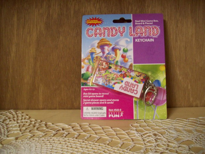 Candy Land Classic Games Keychain by Basic Fun FREE USA SHIPPING!!