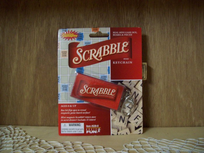 Scrabble Classic Games Keychain by Basic Fun FREE USA SHIPPING!!