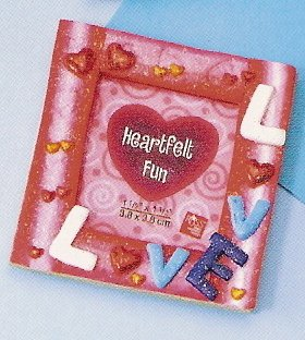 Russ Berrie Valentine Mini Magnet Photo Frame Love FREE USA SHIPPING!