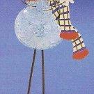 Russ Celebration of the Season Long Legged Glass Ornament Snowman FREE USA SHIPPING