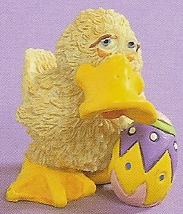 Russ Easter Farm by Doug Harris - Duck Standing with Easter Egg  - FREE USA SHIPPING!!!