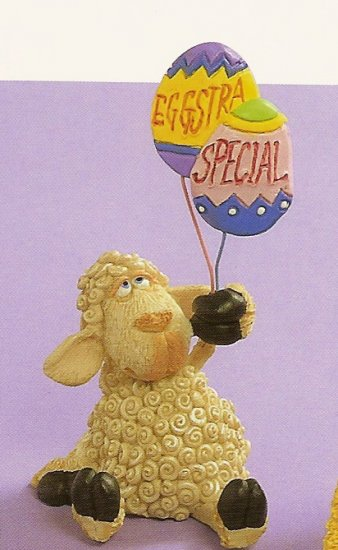 Russ Easter Farm by Doug Harris -Sheep Eggstra Special Egg Balloons  - FREE USA SHIPPING!!!