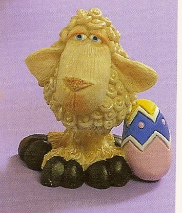 Russ Easter Farm by Doug Harris -Sheep with Easter Egg  - FREE USA SHIPPING!!!