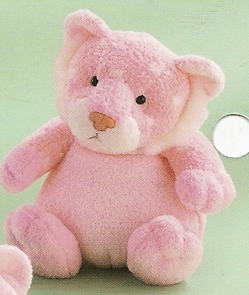 Russ Berrie Baby Plush Collection - Polka Dotsies Rattle Lion - Pink  FREE USA SHIPPING!!!