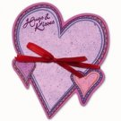 Valentine Heart Shaped Notepad - Hugs and Kisses  FREE USA SHIPPING!!