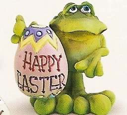 Russ Toadily Yours Easter Frog Happy Easter Egg 27612 FREE USA SHIPPING!
