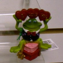 Russ Toadily Yours Valentine Bobble Frog I Love You 29065 FREE USA SHIPPING!