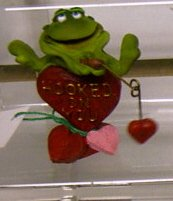 Russ Toadily Yours Valentine Frog Fishing Hooked On You 29064 FREE USA SHIPPING!