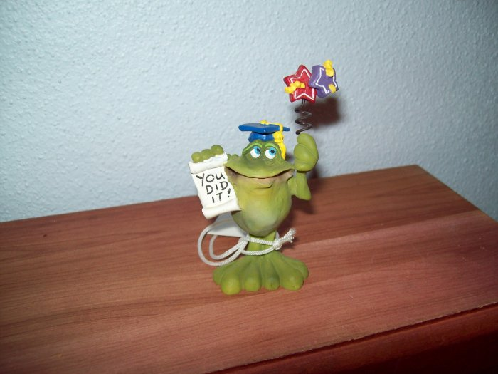 Russ Toadily Yours Graduation Frog You Did It! 25169 FREE USA SHIPPING!