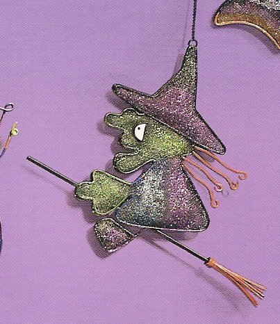 Russ Halloween Happy Hauntings Metal Mesh Ornament - Witch FREE USA SHIPPING!