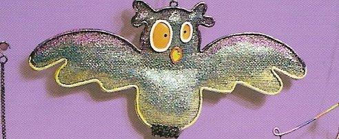 Russ Halloween Happy Hauntings Metal Mesh Ornament - Owl FREE USA SHIPPING!