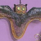 Russ Halloween Happy Hauntings Metal Mesh Ornament - Bat FREE USA SHIPPING!!