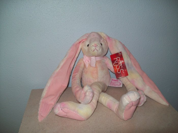 Russ Berrie Easter & Spring - Kimbo the Long Earred Bunny - Pink Parfait FREE USA SHIPPING!
