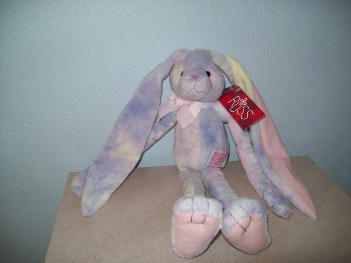 Russ Berrie Easter & Spring - Kimbo the Long Earred Bunny - Purple Parfait FREE USA SHIPPING!