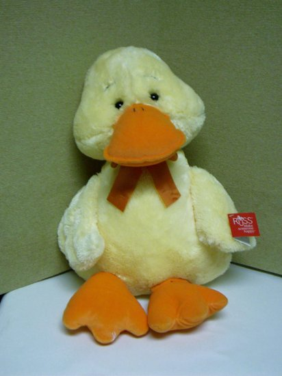 "Russ Berrie Medium Wade Plush Duck - 15"" - FREE USA SHIPPING!"
