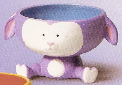 Russ Berrie Welcome Friends Easter Bowl - Purple Lamb - FREE USA SHIPPING!!!