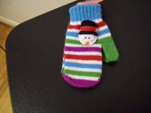 Russ Berrie Warm and Toasty Toddler Mittens - Snowman FREE USA SHIPPING