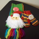Russ Berrie Warm & Toasty Toddler Scarf & Mitten Set - Santa FREE USA SHIPPING