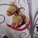 Russ Berrie Santa's Toyland Pull & Dangle Christmas Ornament - Rocking Horse