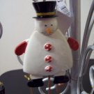 Russ Berrie Santa's Toyland Pull & Dangle Christmas Ornament - Pull Down Snowman