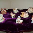 SUPER SALE!!!!  Down Petticoat Lane Set of 8 Figurines!  FREE SHIPPING IN USA!!!