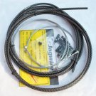JAGWIRE BRAIDED HOUSING CABLE COMPLETE KIT CARBON SILVER COLOR