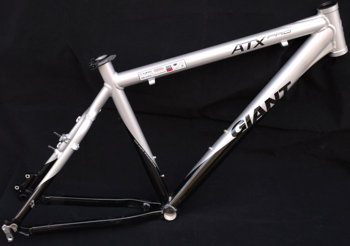 NEW GIANT ATX PRO HARDTAIL FRAME MTB XC ALLOY SILVER BLACK19""
