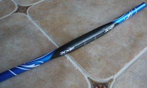 XXF 3K Carbon FLAT Handlebar BAR 31.8MM 580 MM 136g BLUE  BLACK