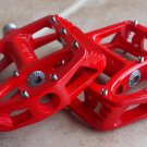 BICYCLE WELLGO MG1 MG-1 MAGNESIUM PEDALS PAIR RED 388g MTB BMX DH