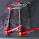 Titanium Quick Release Skewer SET TI AXLE 44g PAIR RED