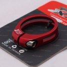 CNC Seatpost SEAT Clamp Titanium Ti bolt 31.8MM RED