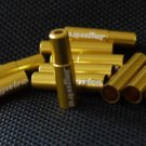 2PCS CNC ALLOY JAGWIRE 5MM END CAPS lined ferrules GOLD